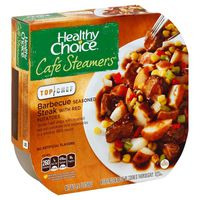Healthy Choice Cafe Steamer Barbecue Steak With Red Potatoes