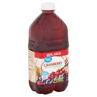Great Value 100% Juice Cranberry Blend, 64 fl oz