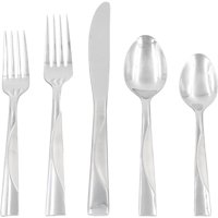 Mainstays Kingsley 20 Piece Stainless Steel Flatware Set