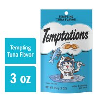 TEMPTATIONS Classic Crunchy and Soft Cat Treats Tempting Tuna Flavor, 3 oz. Pouch