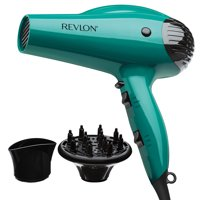 Revlon Essentials Volume Booster Hair Dryer, Teal with Concentrator and Diffuser