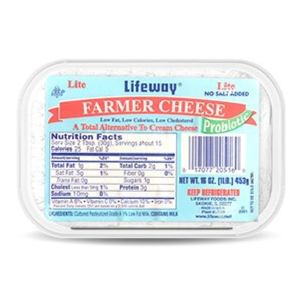 Lifeway Farmer Cheese Premium Cultured Soft Cheese