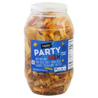 Signature Select Party Mix With Corn Chips, Fried Cheese Curls, Nacho Cheese Flavored Tortilla Chips, Pretzels