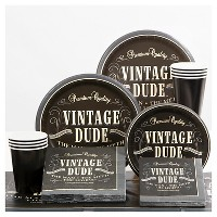 Vintage Dude Party Supplies Collection