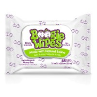 Boogie Wipes Saline Nose Wipes - 45ct