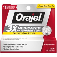 Orajel 3X Medicated For Toothache & Gum Gel, .42 OZ