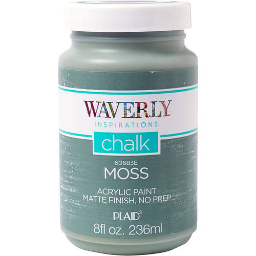 Waverly Inspirations Chalk Acrylic Paint - Moss, 8 oz.