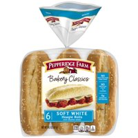 Pepperidge Farm Bakery Classics Soft White with Sesame Seeds Hoagie Rolls, 14.5 oz. Bag, 6-pack