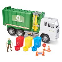 Kid Connection Recycling Truck Play Set, 11 Pieces