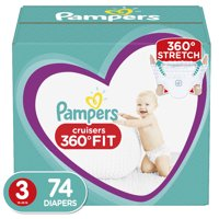 Pampers Cruisers 360 Fit Active Comfort Diapers, Size 3, 74 Ct