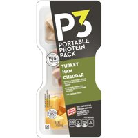 Oscar Mayer P3 Oven Roasted Turkey Portable Protein Pack, 2.3 oz Pack