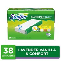 Swiffer Sweeper Wet Mopping Pad Refills, Lavender & Vanilla Comfort, 38 count