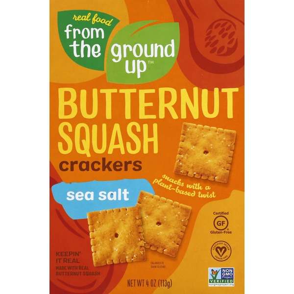 From the Ground Up Crackers, Sea Salt, Butternut Squash
