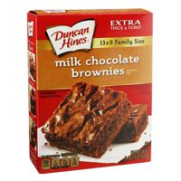 Duncan Hines Brownie Mix, Milk Chocolate, Family Size