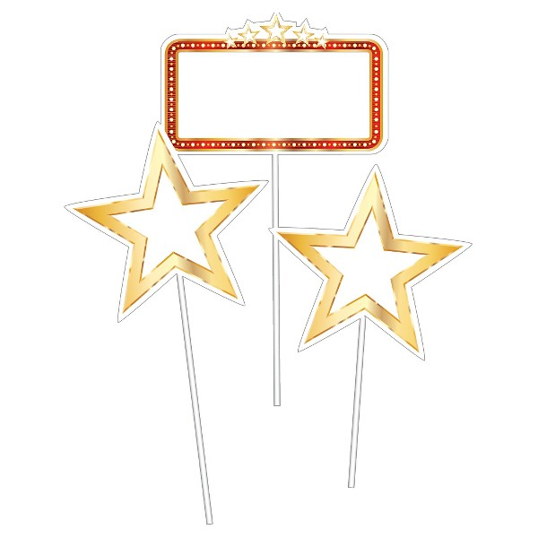 3ct Hollywood Lights Centerpiece Sticks