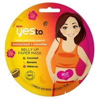 Yes To Moisturized + Smoother Belly Up Paper Mask - 1ct/0.5 fl oz