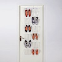 Mainstays Over the Door 24 Pocket Shoe Organizer, Artic White