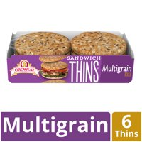 Oroweat Multigrain Sandwich Thins, 6 Rolls, 12 oz