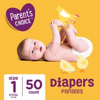 Parent's Choice Diapers, Size 1, 50 Diapers