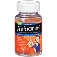 Airborne Immune System Support Blast of Vitamin C Assorted Fruit Flavors Dietary Supplement