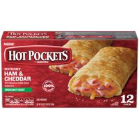 HOT POCKETS Hickory Ham & Cheddar Frozen Sandwiches 12 ct. Box   Frozen Food With Cheddar Cheese
