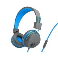 JLab Audio JBuddies Studio Volume Safe, Folding, Over-ear Kids Headphones with Mic - Gray / Blue