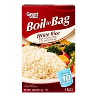 Great Value White Rice, Boil-in-Bag, 14 oz, 4 count