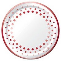 "Sparkle and Shine Ruby 10"" Banquet Plates - 8ct"