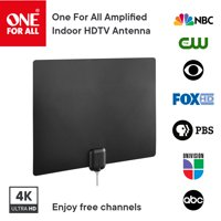 One For All 14542 Amplified Indoor Ultra-thin HDTV Antenna - Supports 4K 1080p