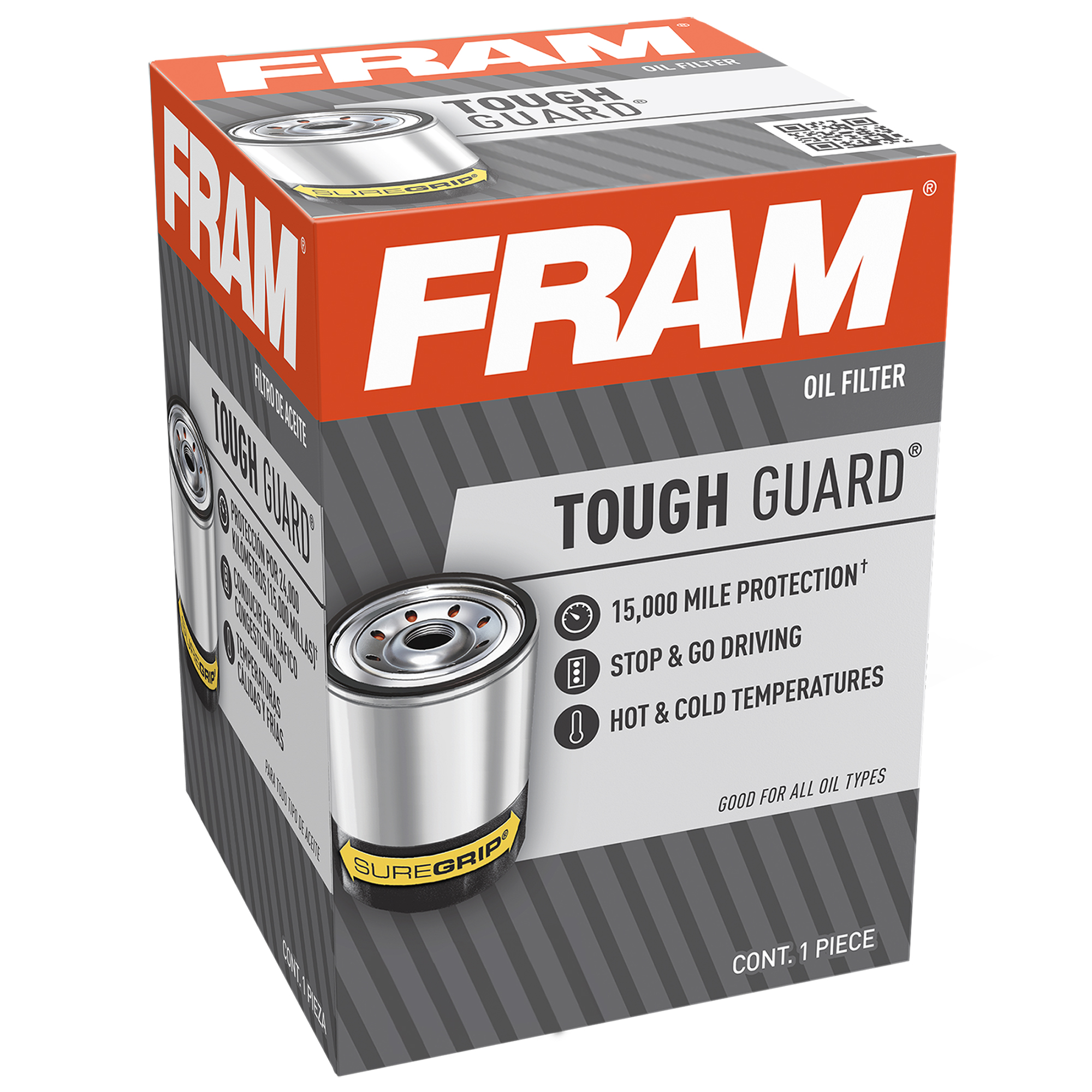 FRAM Tough Guard Filter TG7317, 15K Mile Change Interval Oil Filter