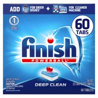 Finish All in 1 Powerball, 60ct, Fresh, Dishwasher Detergent Tablets