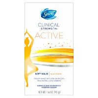 Secret Clinical Strength Active Soft Solid Antiperspirant and Deodorant - 1.6oz