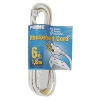 Prime Household Cord, 3 Outlet, 6 Foot