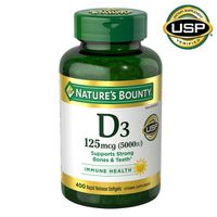 Nature's Bounty Vitamin D3 5000 IU Softgels, 400 ct