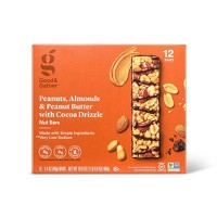 Almonds and Peanut Butter with Cocoa Drizzle Nut Bar - 12ct - Good & Gather™