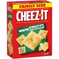 Cheez-It, Baked Snack Cheese Crackers, White Cheddar, Family Size, 21 Oz