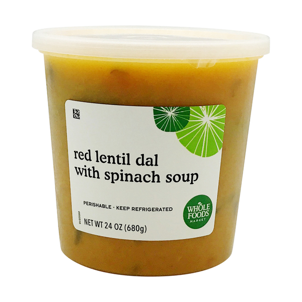 Red Lentil Dal With Spinach Soup, 24 oz