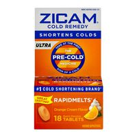 Zicam Cold Remedy, Ultra, Orange Cream Flavor, Quick Dissolve Tablets