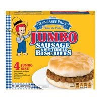Odom's Tennessee Pride Jumbo Sausage & Buttermilk Biscuits, 4 Count