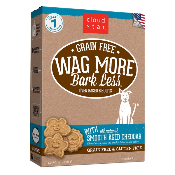 Cloud Star Wag More Bark Less Oven-baked Biscuits, Treats For Dogs