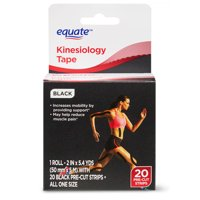 Equate Cotton Kinesiology Tape, 20 Pre-cut Strips