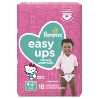 Pampers Easy Ups Training Underwear Girls Size 6 4T-5T 18 Count
