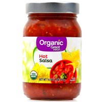 Great Value Organic Hot Salsa, 16 oz