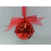 Holiday Time; Christmas Ornaments; Bell With Bow Ornament; 1-Pack