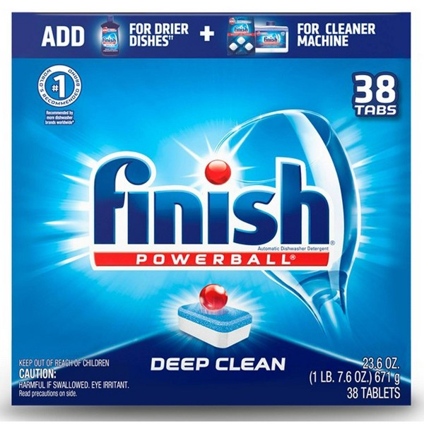 Finish Powerball Tabs Dishwasher Detergent Tablets Fresh Scent - 38ct