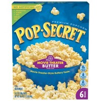 Pop Secret Movie Theater Butter Microwave Popcorn - 6ct