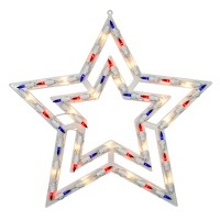 "Northlight 17"" Lighted Red, White and Blue Patriotic Star Window Silhouette Decoration"