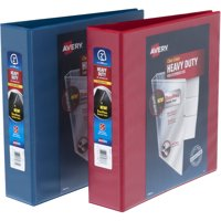 Avery 2' Heavy Duty View Red/Blue Binder, Assorted Master Case