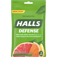 Halls Defense Dietary Supplement Drops, Assorted Citrus