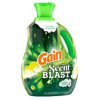 Gain Scent Blast Liquid Fabric Softener Fiercely Fresh - 81 fl oz